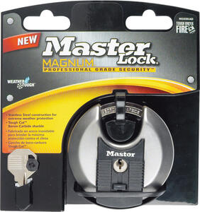 Master Lock  1-11/16 in. H x 1 in. W x 3-1/8 in. L Steel  Ball Bearing Locking  Shrouded Shackle Pad