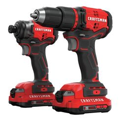 Craftsman  V20  20 volt Cordless  Brushless  2 tool Compact Drill and Impact Driver Kit