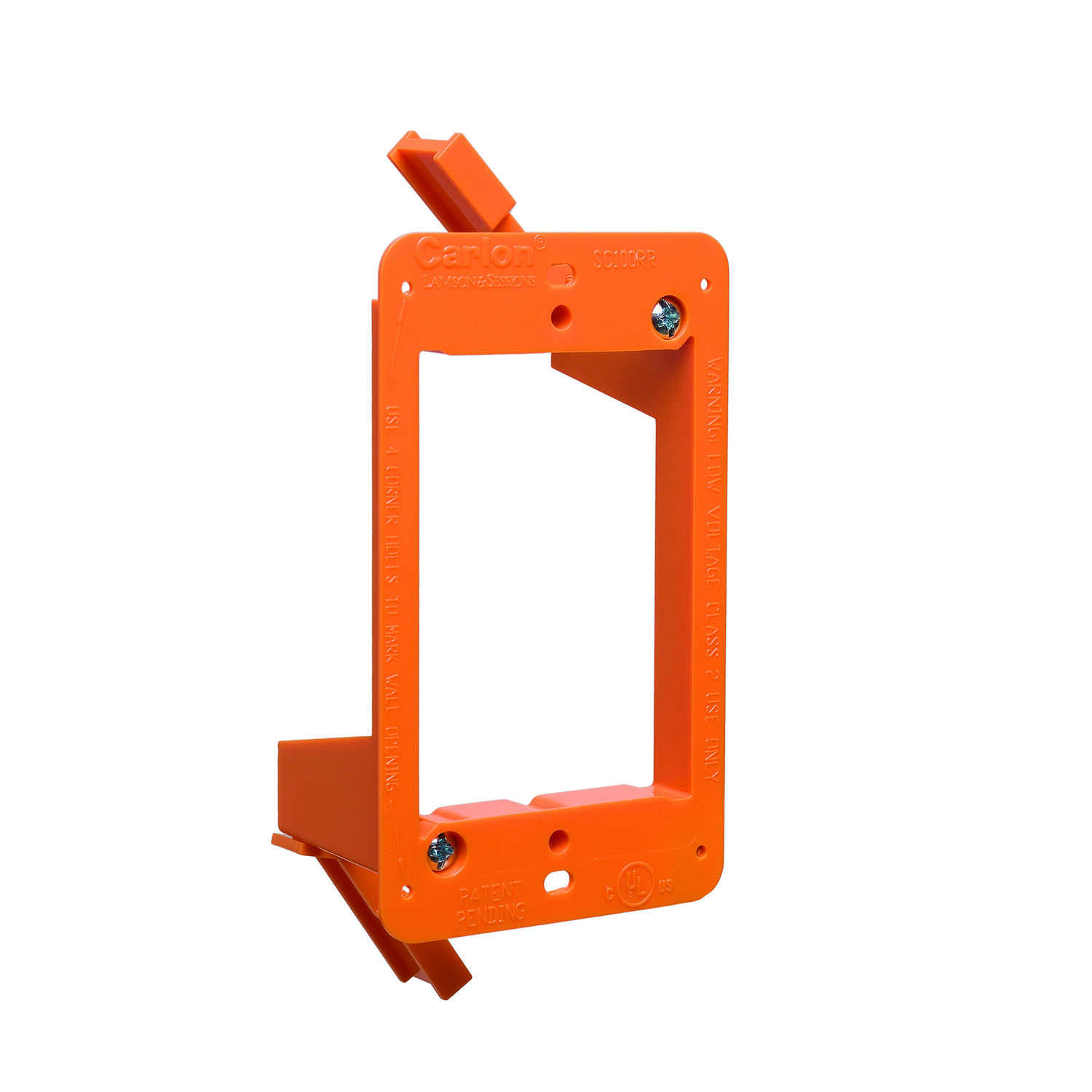 Carlon  PVC  1 gang Low Voltage Mounting Bracket  Rectangle  Orange  4.32 in.