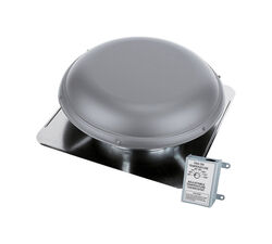 Air Vent  26 in. H x 9 in. W x 26 in. L x 14 in. Dia. Gray  Steel  Power Roof Ventilator
