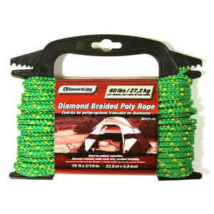 SecureLine  3/16 in. Dia. x 75 ft. L Green  Diamond Braided  Polypropylene  Rope