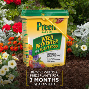 Preen  Granules  Weed Preventer Plus Plant Food  16 lb.