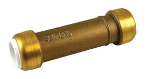 SharkBite  1/2 in. Dia. x 1/2 in. Dia. x 4.3 in. L IPS To IPS  Slip Repair Coupling  Brass