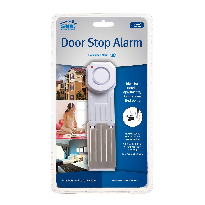 Sabre White Plastic Door Stop Alarm - Ace Hardware