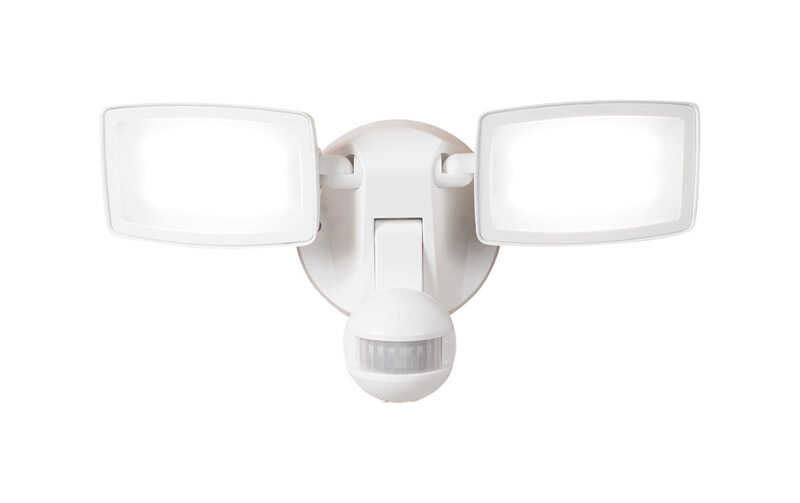 All-Pro  Motion-Sensing  180 deg. LED  White  Outdoor Floodlight  Hardwired