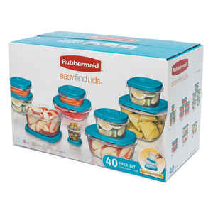 Rubbermaid  Easy Find Lids  Assorted  Storage Container Set  1 set Clear