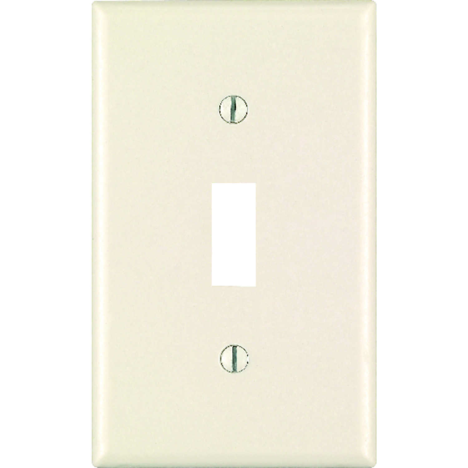 Leviton  Almond  1 gang Toggle  Plastic  1 pk Wall Plate