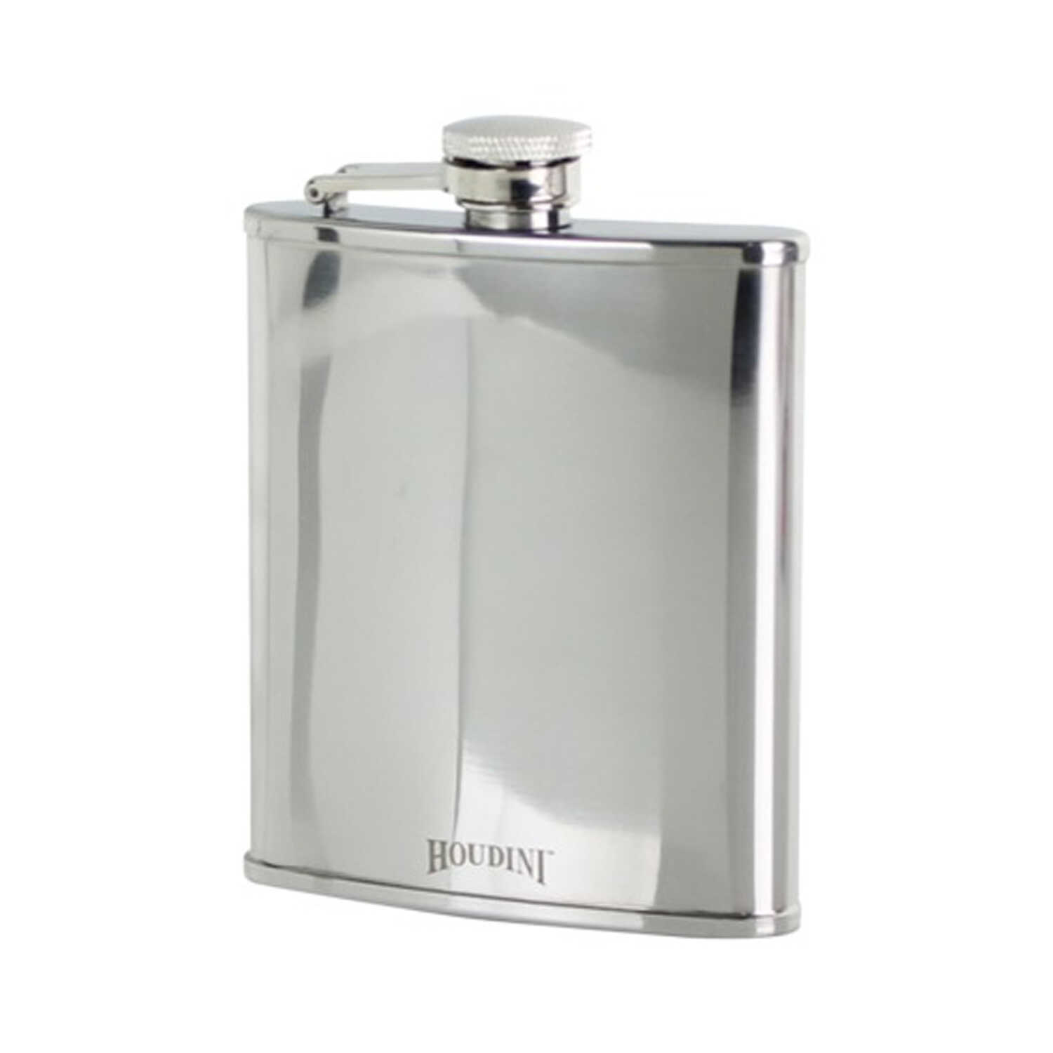 Houdini  6 ounce oz. Silver  Stainless Steel  Pocket Flask