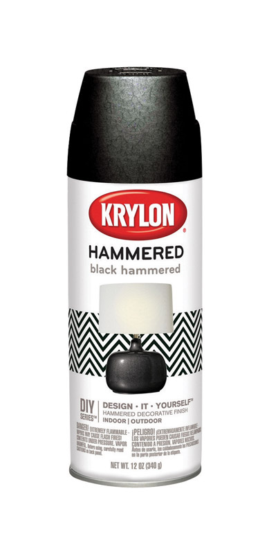 Krylon  Hammered  Black  12 oz. Spray Paint