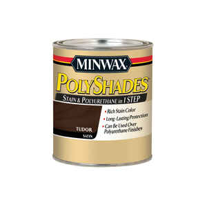 Minwax  PolyShades  Semi-Transparent  Satin  Tudor  Oil-Based  Stain  1 qt.