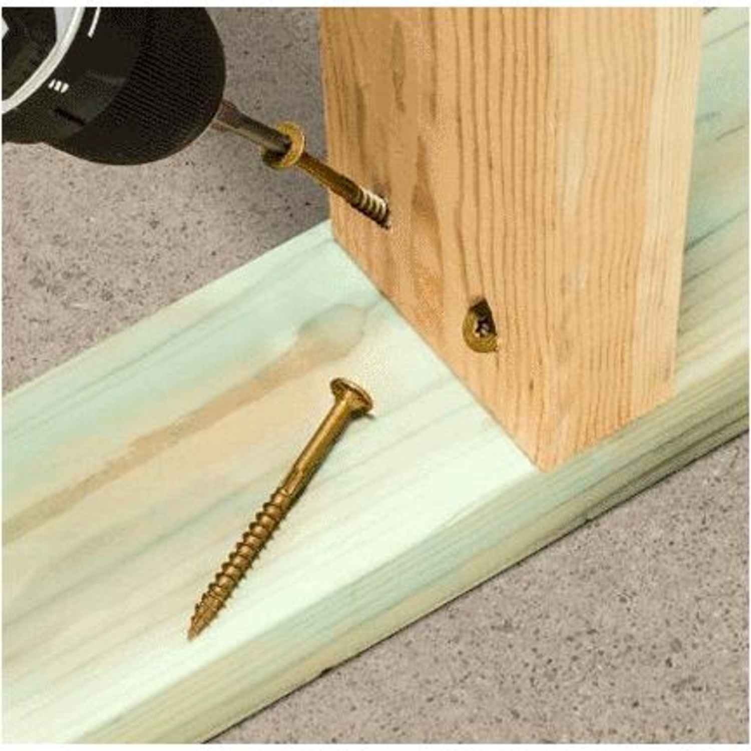 Simpson Strong-Tie  No. 8   x 2-1/2 in. L Star  Low Profile Head Coated  Steel  Framing Screws  75 c