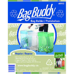 Bag Buddy  33 gal. Steel  Trash Bag Support