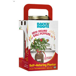 Back to the Roots Self-Watering Planter Green/Red/Yellow Sweet Bell Pepper Grow Kit 1 pk