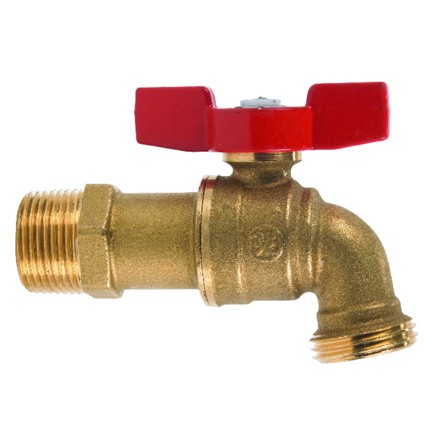 B & K  Mueller  3/4 in. MIP  Dia. x 3/4 in. Dia. Hose  Brass  4 in. Ball Valve Hose Bibb