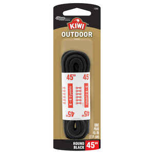 Kiwi  Outdoor  45 in. Black  Boot Laces