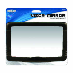 Custom Accessories  Black  Visor Mirror  1 pk Fits well on all visors