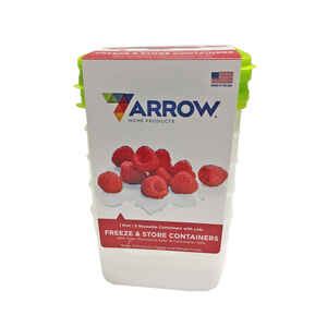 Arrow Home Products  1 pt. Food Container and Lid  5 pk White