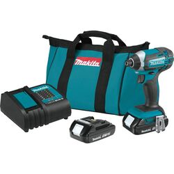Makita LXT 18 volt 1/4 in. Cordless Brushed Impact Driver Kit (Battery & Charger)