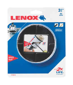 Lenox  Speed Slot  3-5/8 in. Dia. x 1.5 in. L Bi-Metal  Hole Saw  1/2 in. 1 pc.