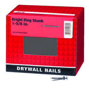 Ace  1-5/8 in. L Drywall  Bright  Nail  Annular Ring Shank  Flat  5 lb.