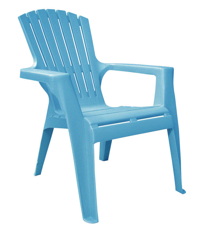 Adams  Kids  Blue  Polypropylene  Adirondack  Chair