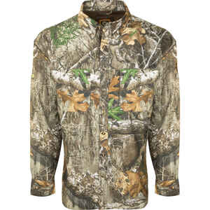 Drake  XX-Large  Long Sleeve  Men's  Mock Neck  Realtree Edge  Shirt
