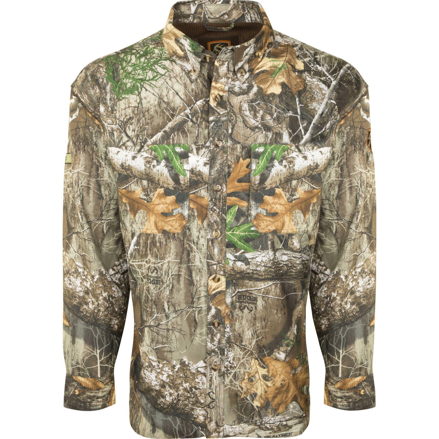 Drake  XX-Large  Men's  Long Sleeve  Mock Neck  Realtree Edge  Shirt