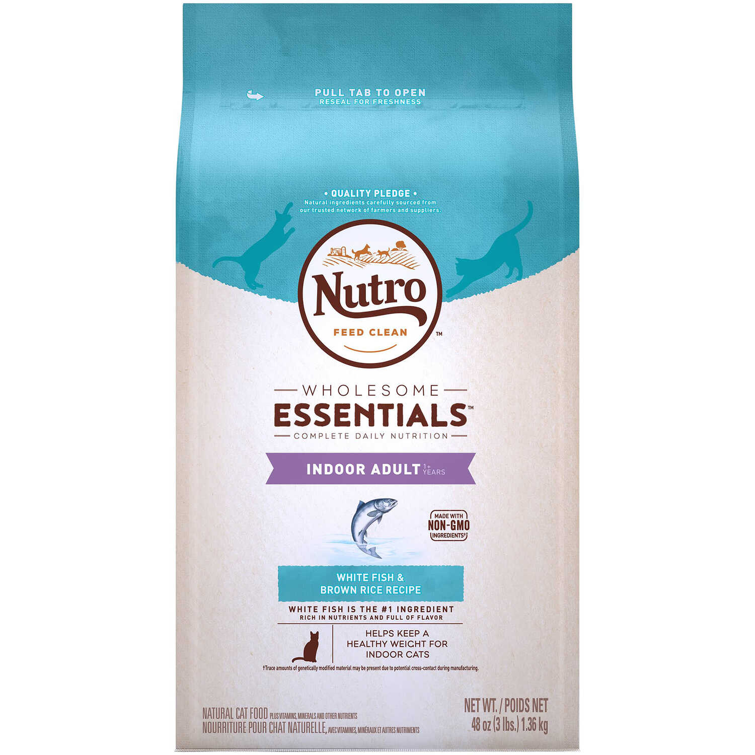 Nutro  Wholesome Essentials  White Fish & Brown Rice  Dry  Cat  Food  3 lb.