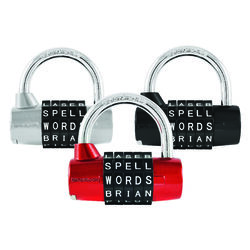 Wordlock  2.62 in. H x 2.5 in. W x 2-1/2 in. L Steel  5-Dial Combination  Padlock  1 pk