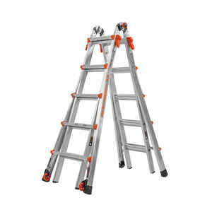 Little Giant  Velocity  22 ft. H Aluminum  Articulating Ladder  300 lb. Type IA