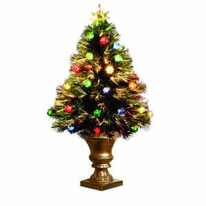 Celebrations  LED  Multicolored  Prelit 3 ft. Fiber Optic  Artificial Tree  120 tips