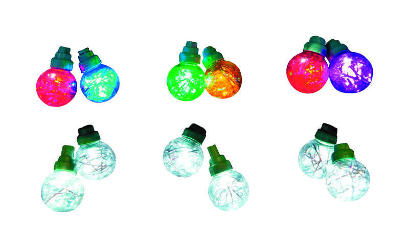 Sienna  LED  G30  Tinsel Lights  Multicolored  16 ft. 25 lights