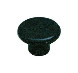 Amerock  Allison  Round  Furniture Knob  1-1/4 in. Dia. 13/16 in. Black  1 pk