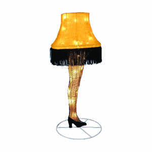 Kurt S. Adler  Christmas Story Movie Tinsel Leg Lamp  Outdoor Decor  Black/Gold  Resin  1 pc.