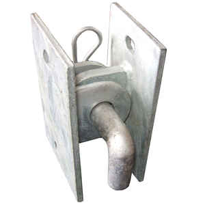Multinautic  Silver  Galvanized Steel  Connector Hinge