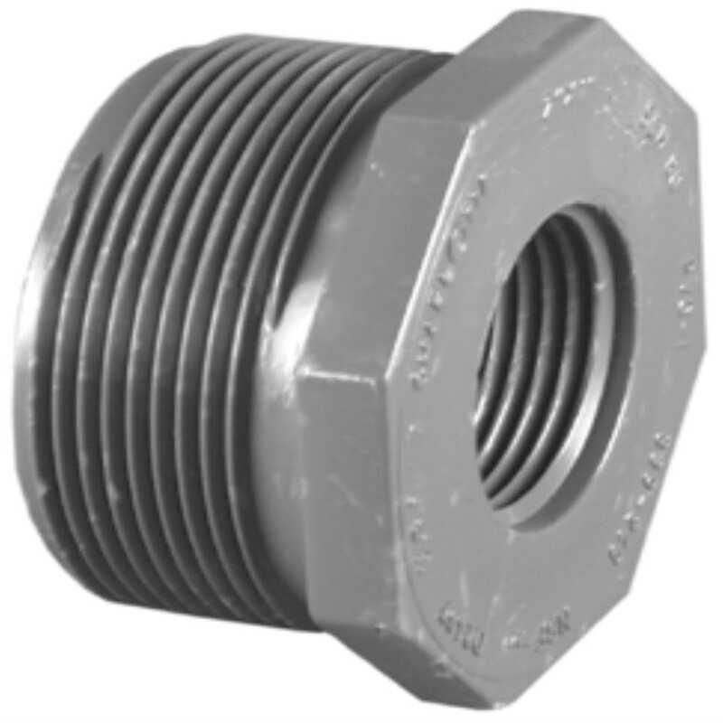 Charlotte Pipe  Schedule 80  3/4 in. MPT   x 1/2 in. Dia. FPT  PVC  Reducing Bushing