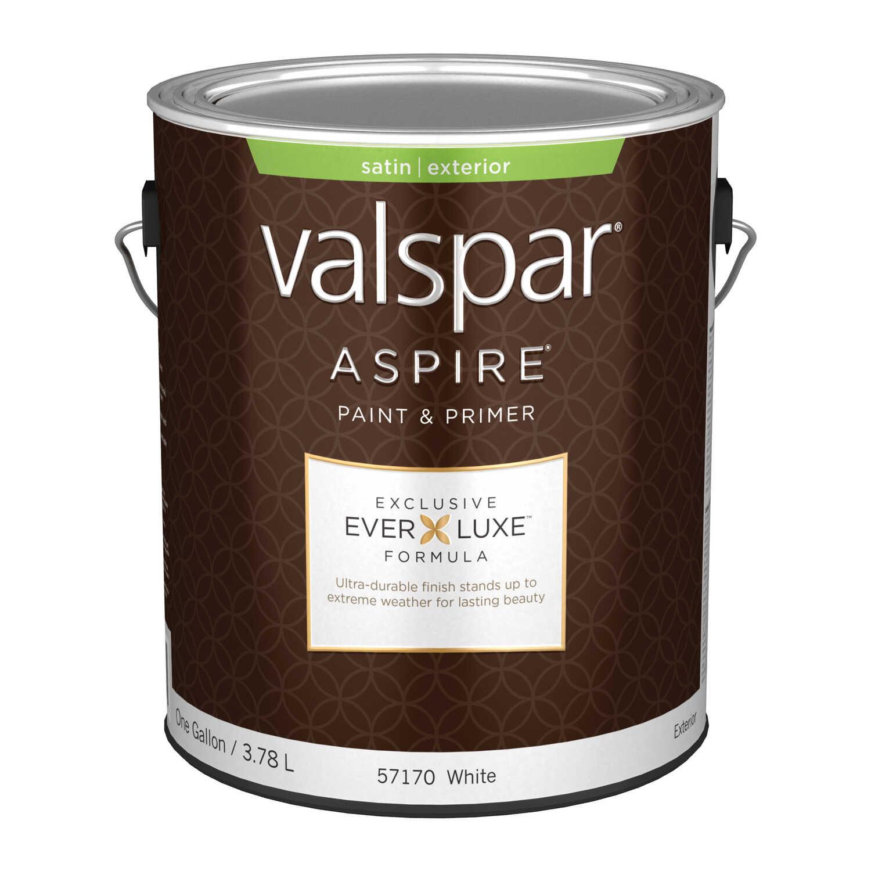 Valspar Aspire Satin Basic White White Base Acrylic Latex 1 gal ...