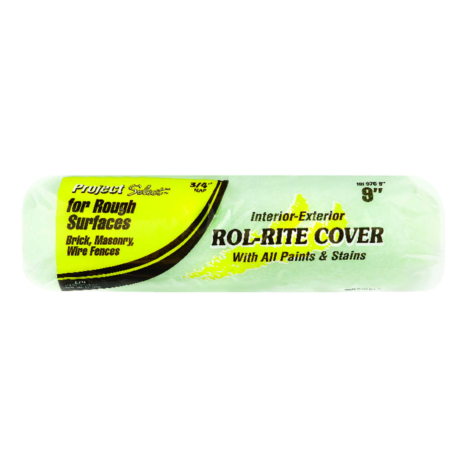 Project Select  Rol-Rite  Polyester  3/4 in.  x 9 in. W Regular  Paint Roller Cover  1 pk For Rough
