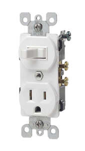 Leviton  15 amps Combination  Switch  1 pk White