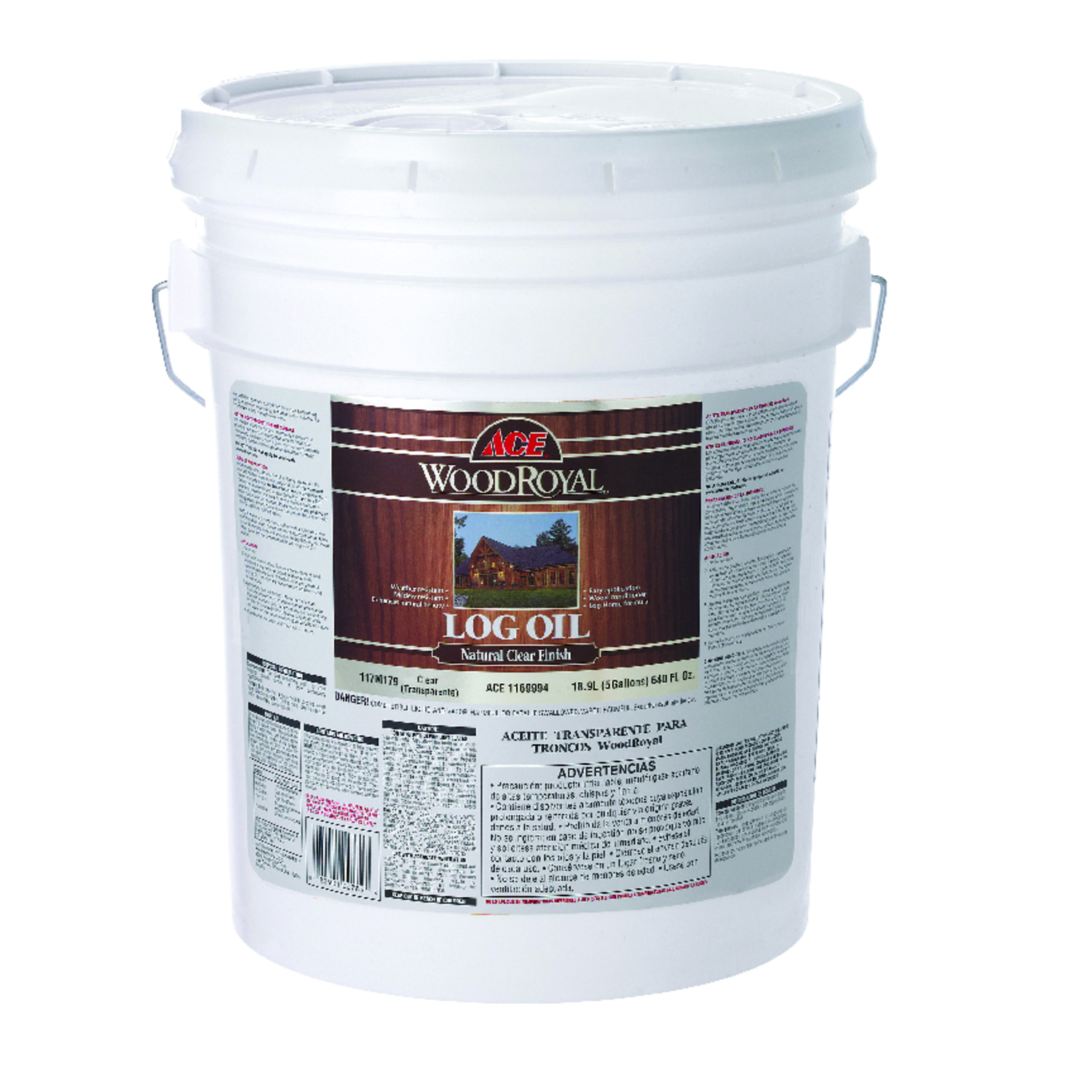 Ace  Wood Royal  Clear  Oil-Based  Log Oil  5 gal. Oil