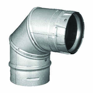 DuraVent  4 in. Dia. x 4 in. Dia. 90 deg. Galvanized Steel/Stainless Steel  Stove Pipe Elbow