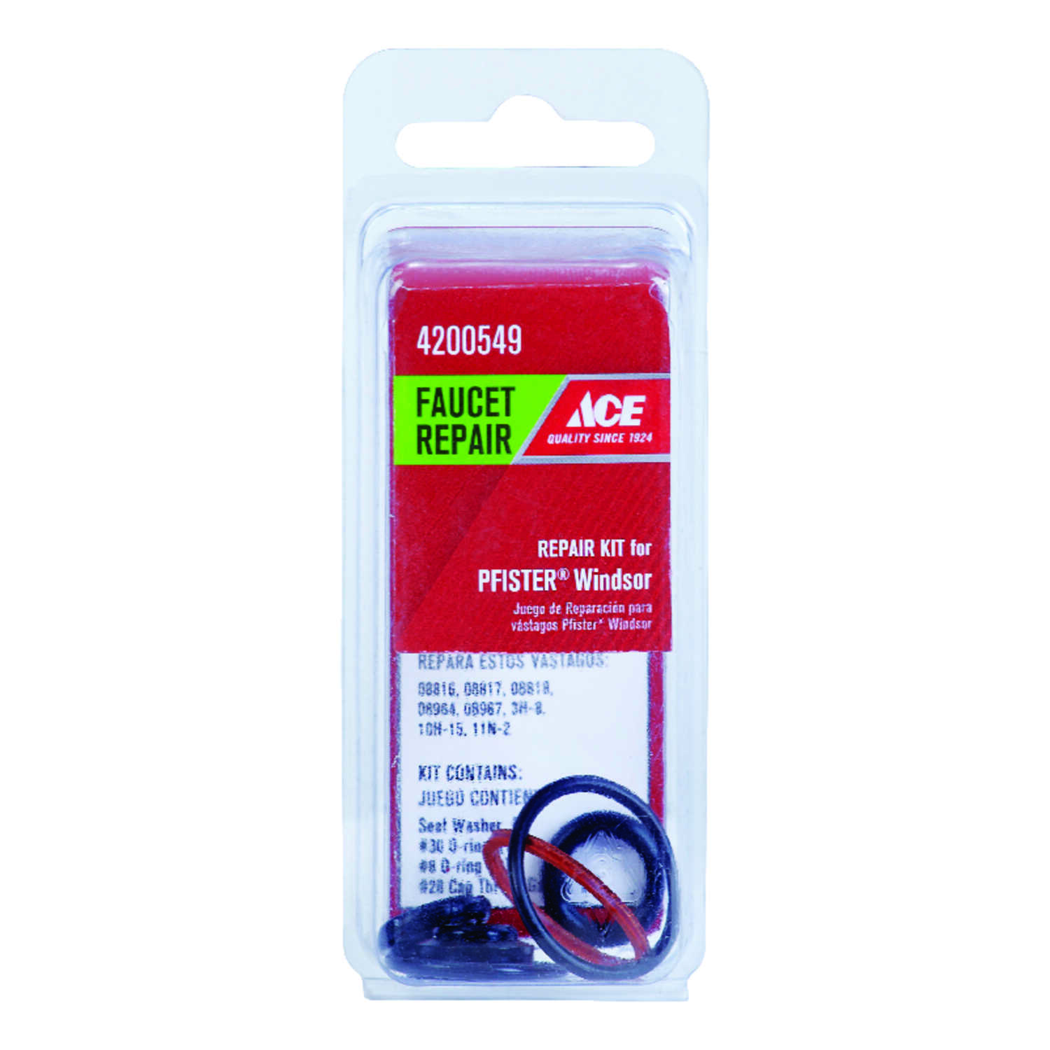 Ace  Rubber  Faucet Repair Kit  Hot and Cold