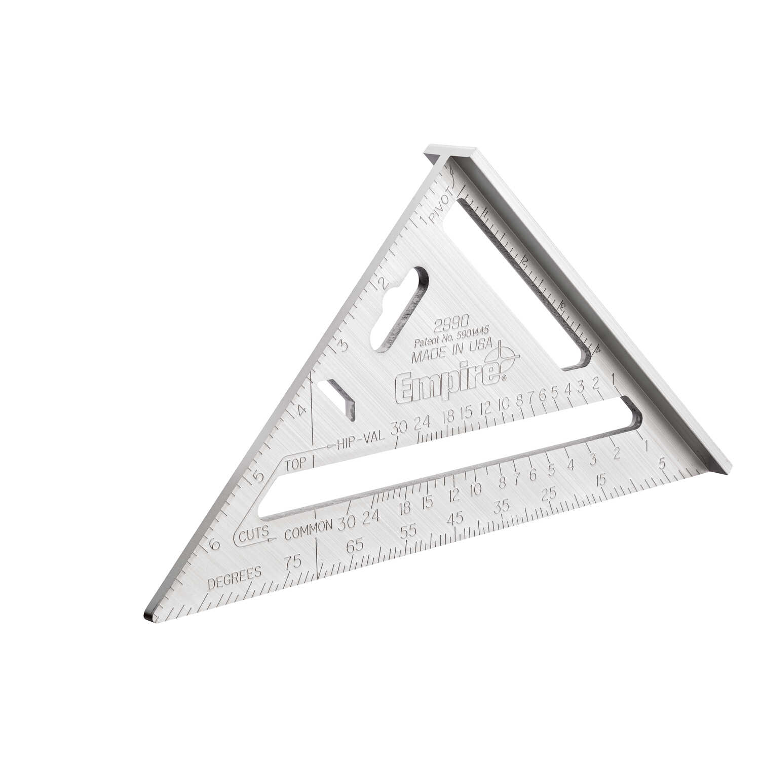Empire  Magnum  7 in. L x 7 in. H Aluminum  Heavy Duty  Rafter Square  Silver