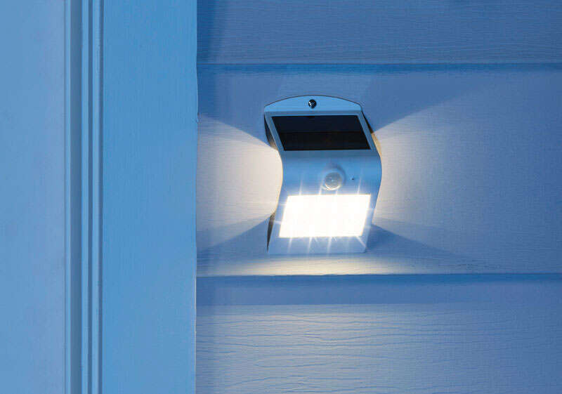 Luceco  Guardian  White  White  LED  Solar Motion Sensing Wall Light