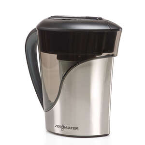 ZeroWater  8 cups Silver  Metallic  Water Filtration Pitcher