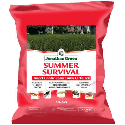Jonathan Green  Summer Survival  Insect Control  13-0-3  Lawn Food  5000 sq. ft. For All Grasses