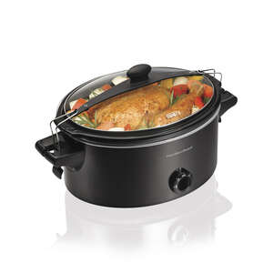 Hamilton Beach  6 qt. Metal  Slow Cooker  Black