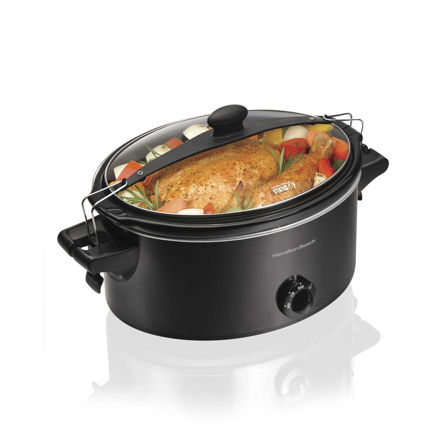 Hamilton Beach  6 qt. Black  Metal  Slow Cooker