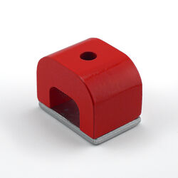 Master Magnetics  1.18 in. Alnico  Horseshoe Magnet  13 lb. pull 5.5 MGOe Red  1 pc.