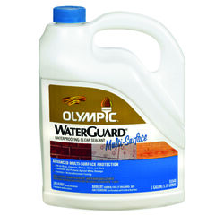Olympic WaterGuard Low Luster Clear Water-Based Multi-Surface Waterproofer 1 gal.